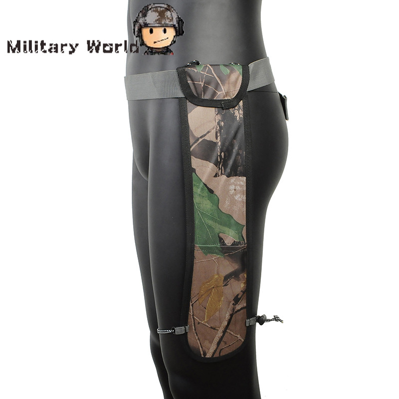 Adjustable Waist Archery Quiver Hunting Shooting Camo Waterproof Oxford Fabric Leg Arrow Bag Pouch With Elastic