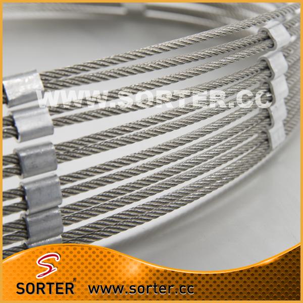 Stainlesssteel wire rope mesh for aviary mesh animal mesh zoo fence(China (Mainland))
