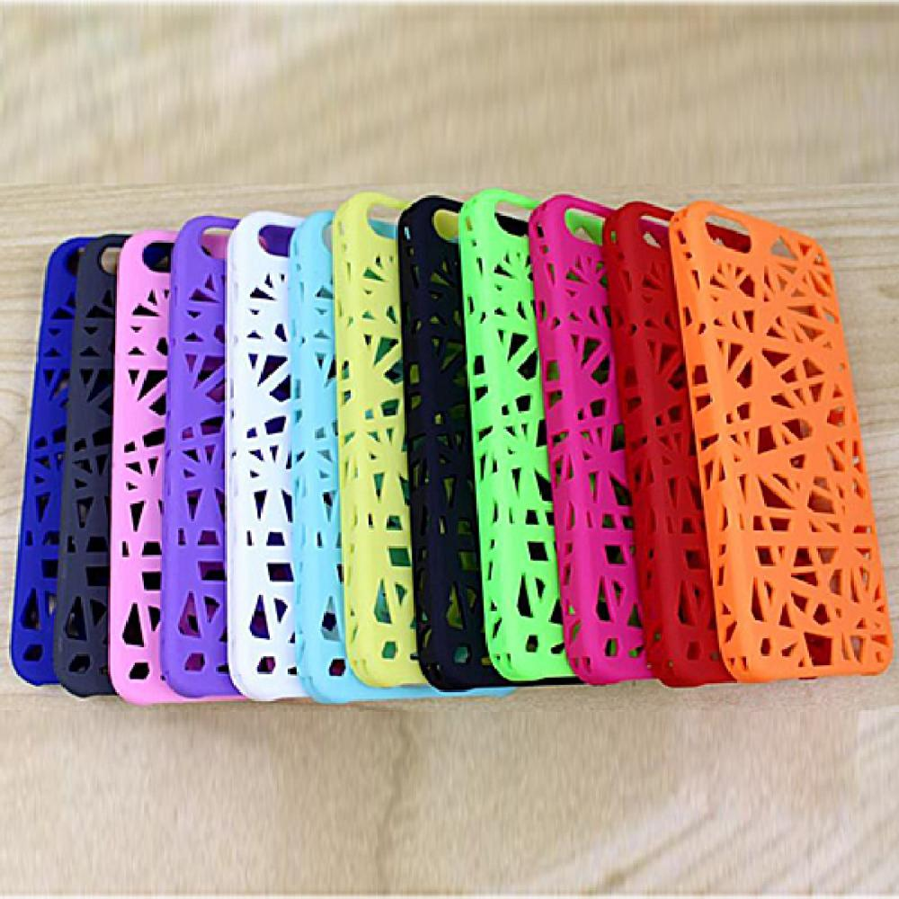 Free shipping Hollow Bird's Nest Rubberized Plastic Hard Back Case Cover For iPhone 5 5s(China (Mainland))