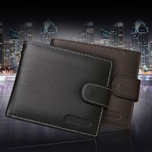 2015 portable leather wallet mens fashion designer men's wallets purse  casual male card holder coin purse pockets clutch (China (Mainland))