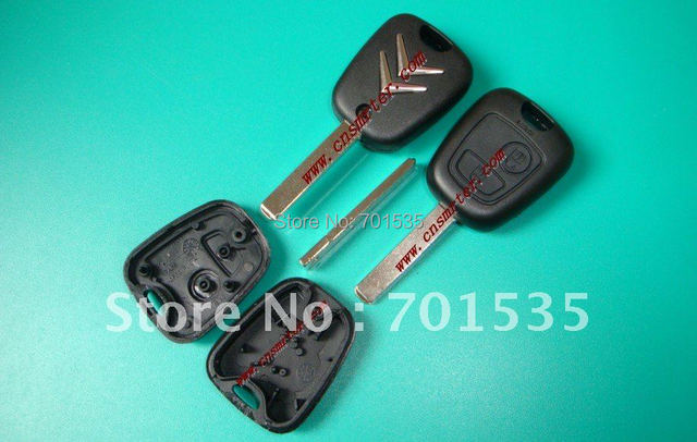 Citroen remote key shell 2 button(without groove)