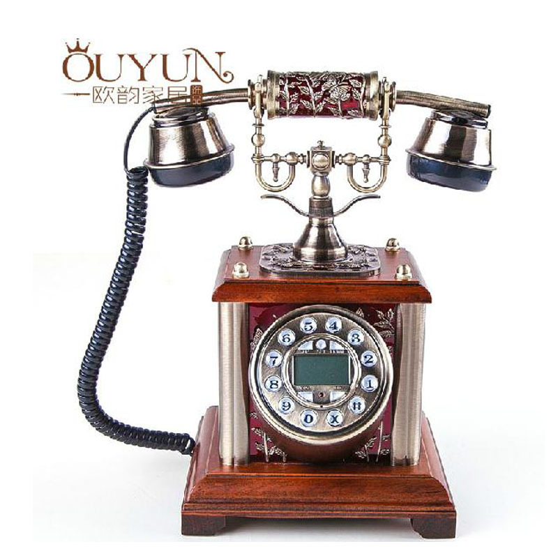 New 2015 European Style Elegant Antique Telephone Personality Retro Telephone Caller Id Corded Phone Hot Sell(China (Mainland))