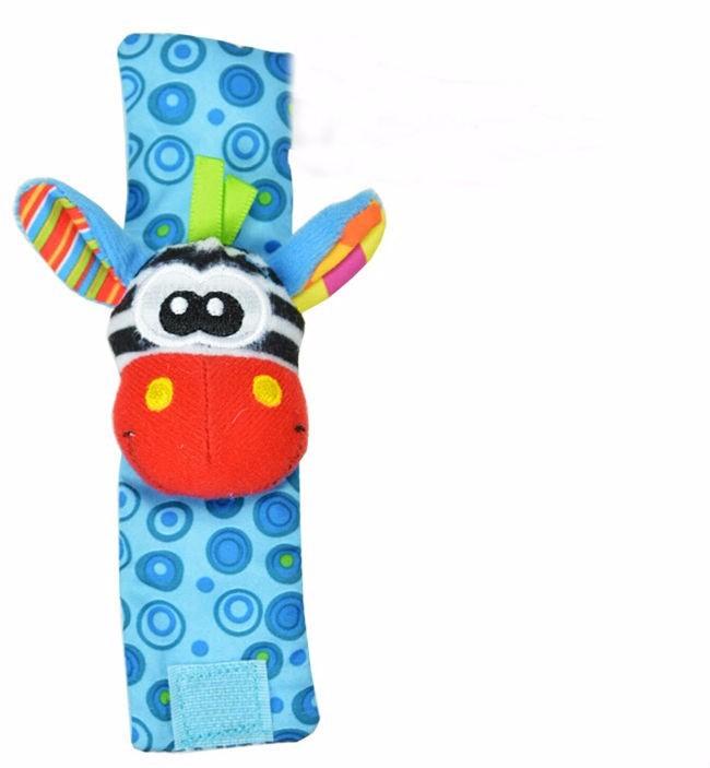 4Pcs(2Pcs Socks+2Pcs Wrists)Hot New Infant Baby Kids Sock And Wrist Rattles Cute Intellectual Developmental Toys Animal