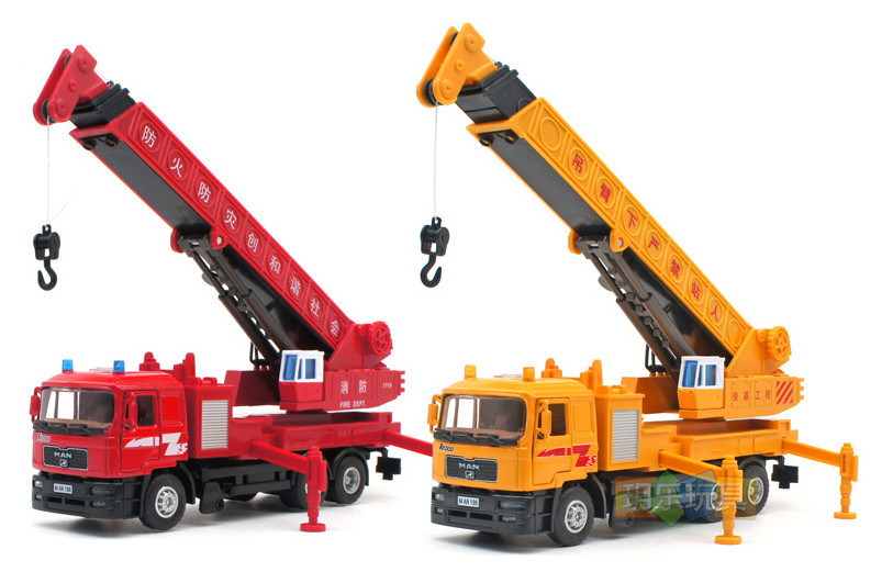 german man crane truck 140 alloy vehicles toys gifts models