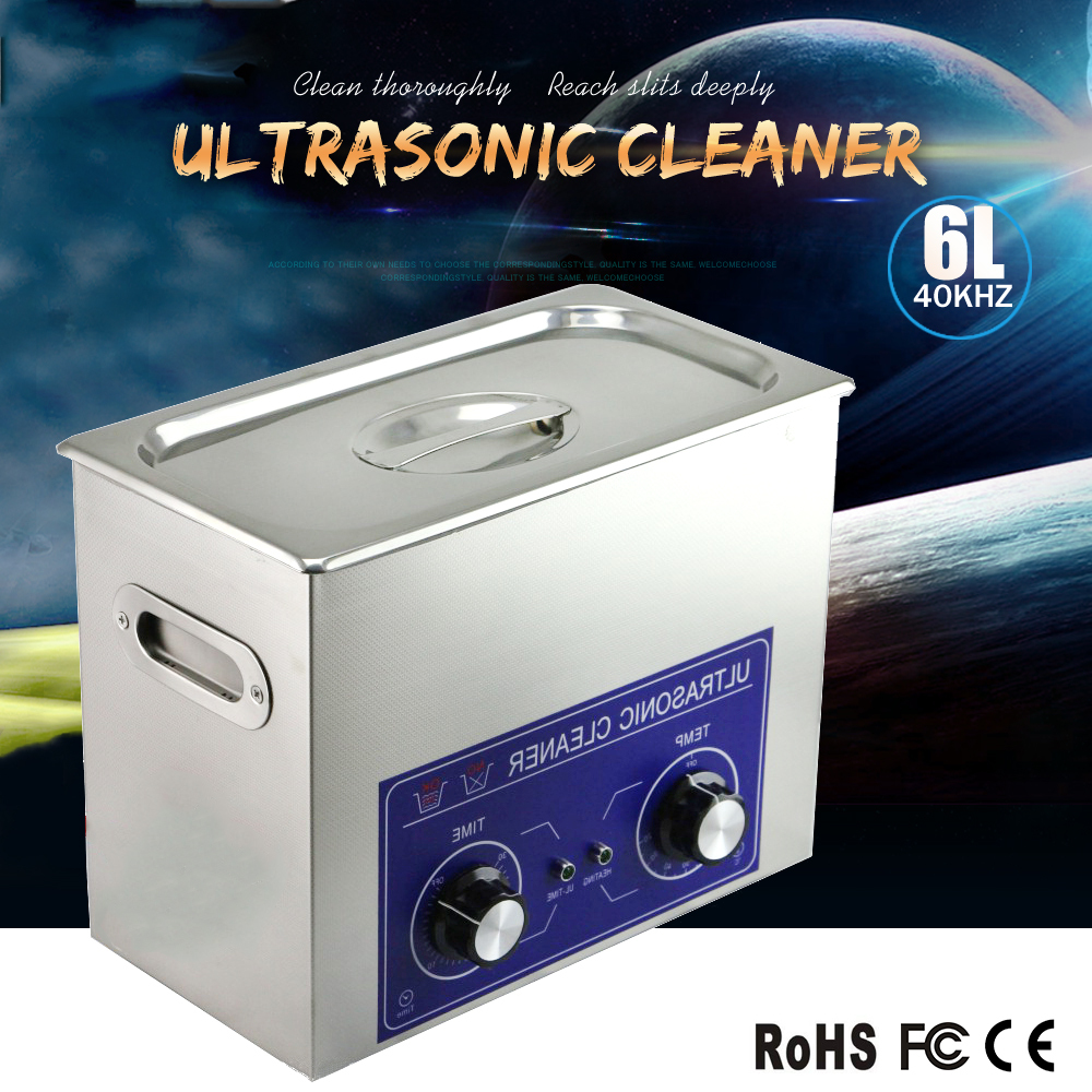 6.0l Ultrasonic Cleaning Equipment (With Timer And Heater) For Hospital/Clinic/Factory/Lab/Company Or Personal Use/Discount(China (Mainland))