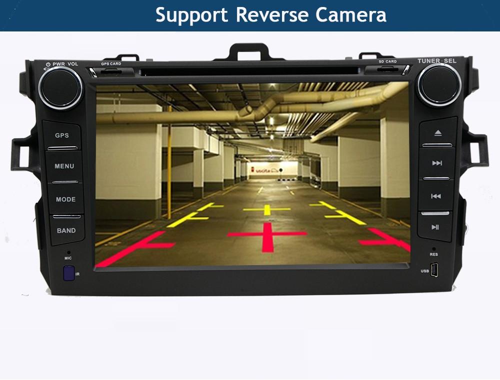 Купить Android 5.1 dvd-плеер автомобиля Для Toyota corolla 2007 2008 2009 2010 2011 в тире 2 din 1024*600 автомобильный радиоприемник gps видео головное устройство