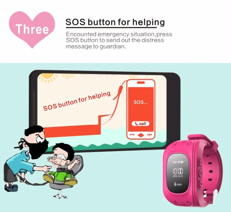 image for GPS Tracker Watch For Kids SOS Emergency Anti Lost GSM Smart Mobile Ph