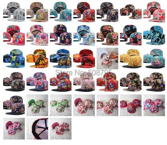 2014 hot sale basketball football baseball snapback caps plain flat peak floral hat wholesale Mixed lot + Free shipping(China (Mainland))