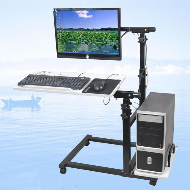 Desktop table multifunctional monitor floor mount holder lounged bed desktop rack