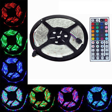 Buy 5m 12V 3A Waterproof IP65 5050 RGB SMD LED Flexible Strip light 150 LEDs + MINI 44 Key IR Remote Controller for $18.40 in AliExpress store