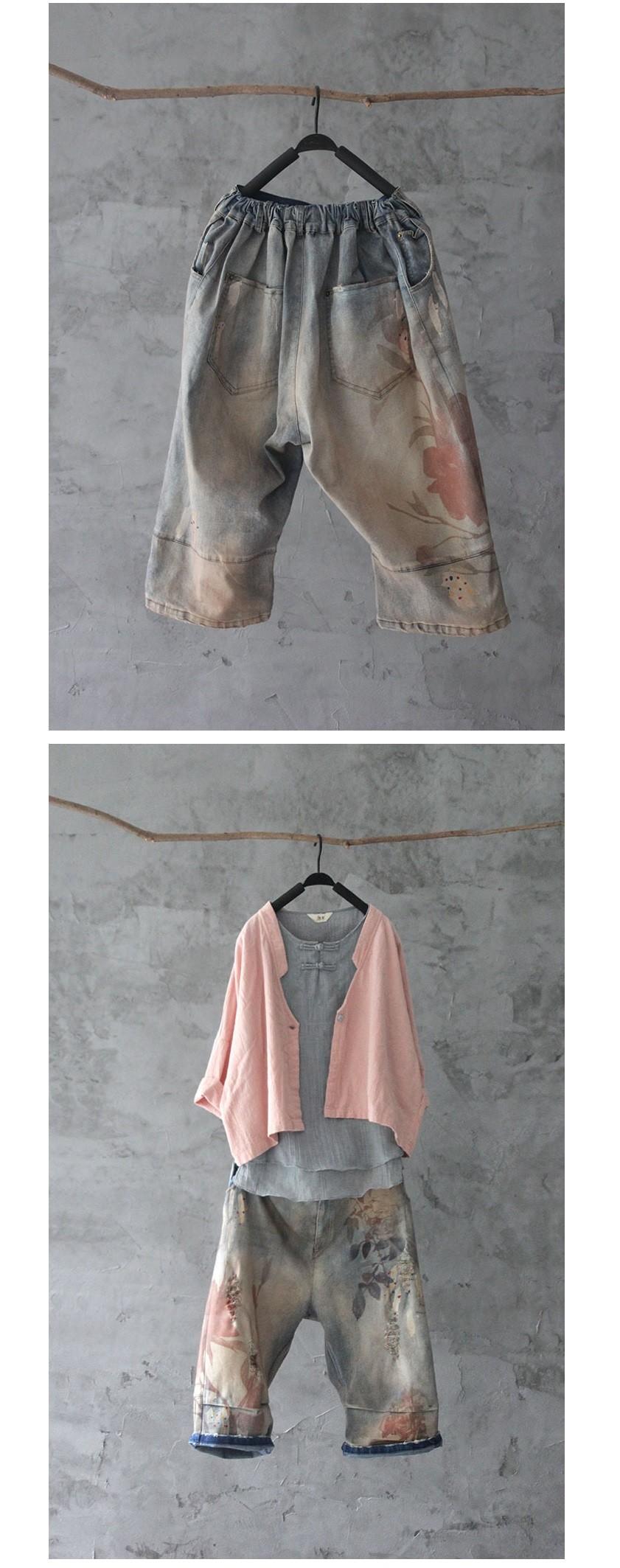 Скидки на Новая версия продукта в летом 2016 года оригинальный дизайн ковбой хлопок свободные большие ярдов женские шорты брюки