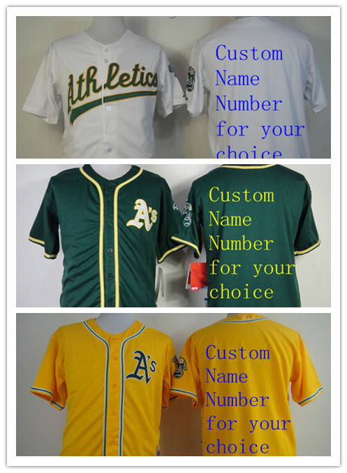 Oakland Athletics Customiez Jersey, Stitched Name Number Personalized Mens Women Youth Cheap all stitched jerseys(China (Mainland))