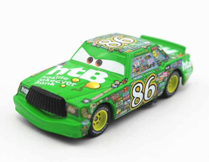 Pixar Cars 2 Toys 1:55 Scale #86 HTB Chicks Hicks Car Diecast Metal Car Toy Brand New Loose In Stock(China (Mainland))