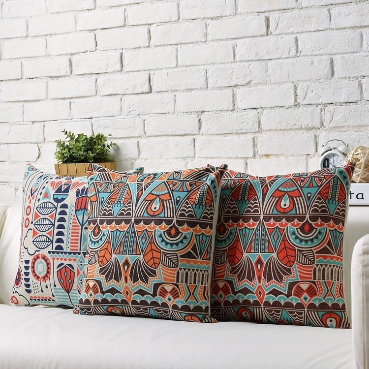 Nordic Modern Geometry Bohemia Stripes Linen pillow cushion Square Pillowcases Home Decor sofa cushions