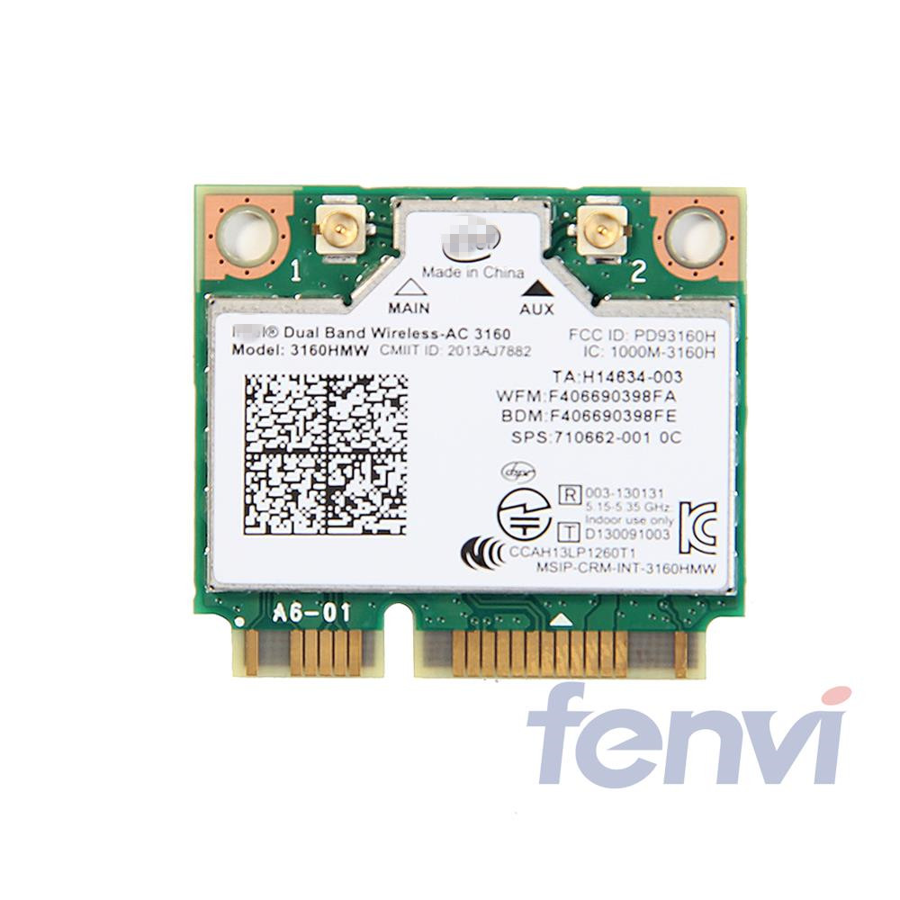 Mini PCI-e Wifi Wireless bluetooth laptop card Dual Band 2.4ghz 5Ghz For Intel 3160 3160HMW 802.11ac Wireless AC + Bluetooth 4.0(China (Mainland))