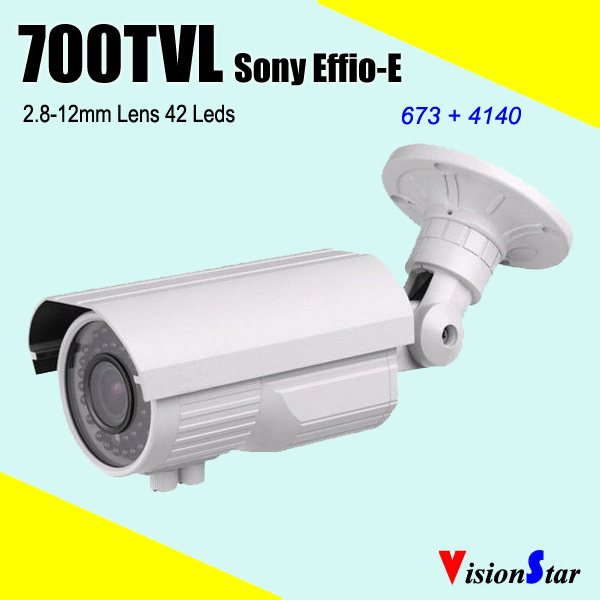 "Excellent Image 42pcs IR Leds Manual Zoom 2.8-12mm 1/3"" SONY Effio-E 700TVL Outdoor Using CCTV Camera Vision Star(China (Mainland))"