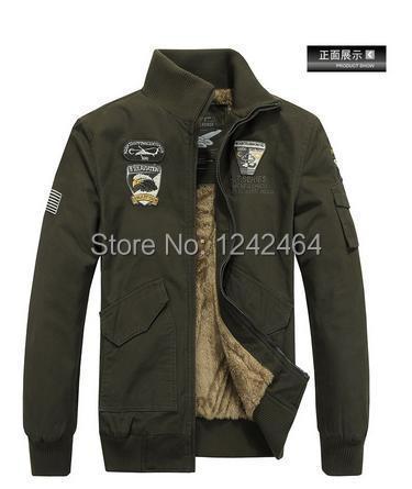 Winter Casual 4XL Mens collar coat army green outwear military man jackets men winter jacket men coat Parka Coats(China (Mainland))