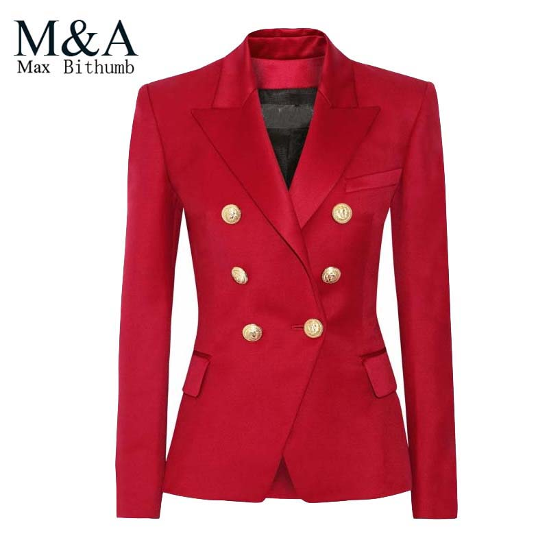 Red Ladies Blazer Fashion Ql