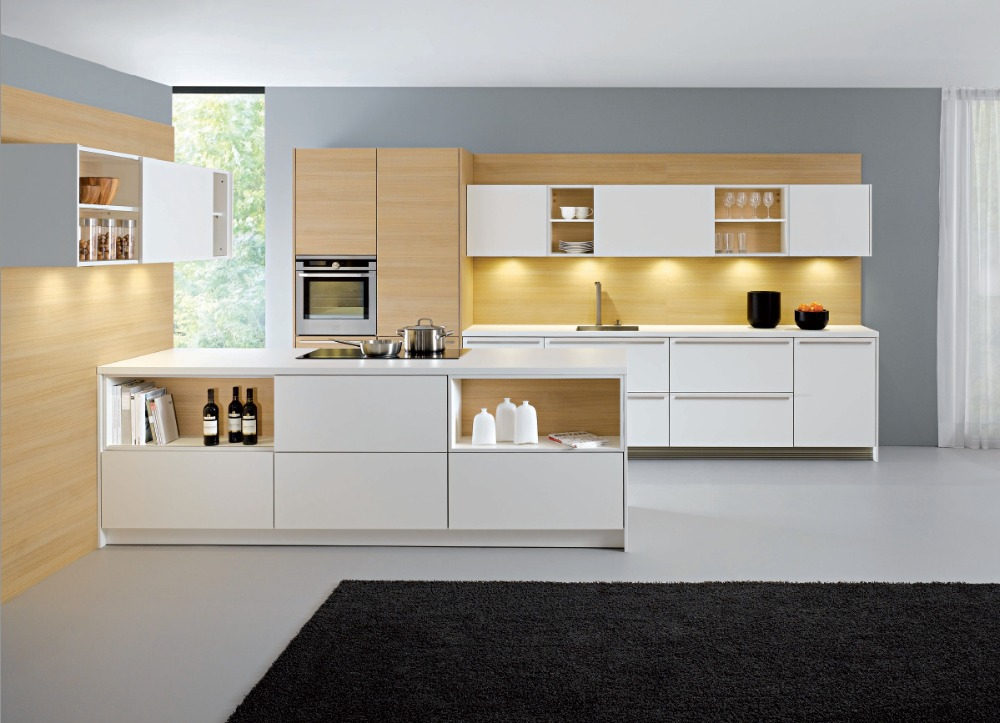 modular kitchen furniture customized made lacquer kitchen cabinets