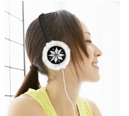 2014 new Various Colors Winter Warm Plush Headphone Furry Earmuffs Earphone,warm music headphone,Free shipping(China (Mainland))