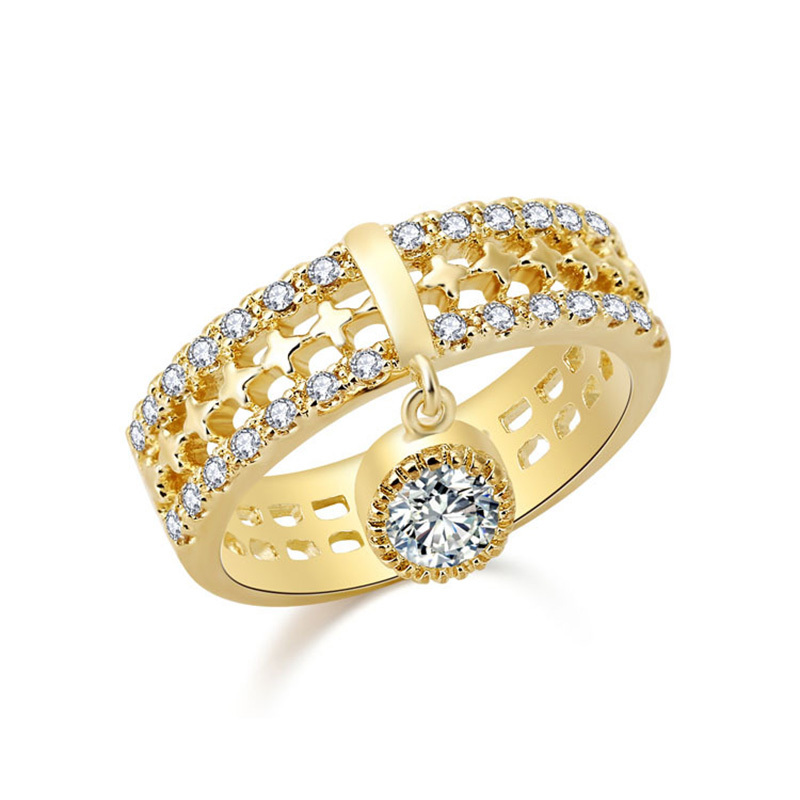 Top Sale 2015 New Trendy Ring 18K Gold Square Shape Micro Pave Cubic Zircon Brand Ring Ruby Jewelry Women Rings(China (Mainland))