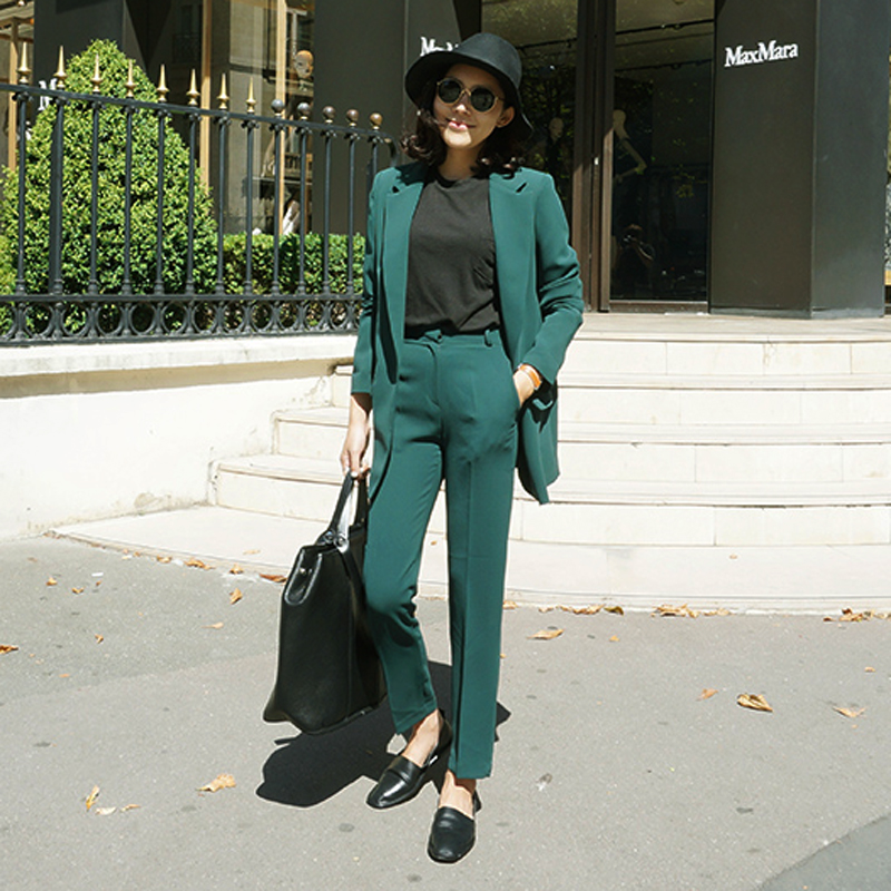 Popular Green Pant Suit-Buy Cheap Green Pant Suit Lots From China Green Pant Suit Suppliers On ...