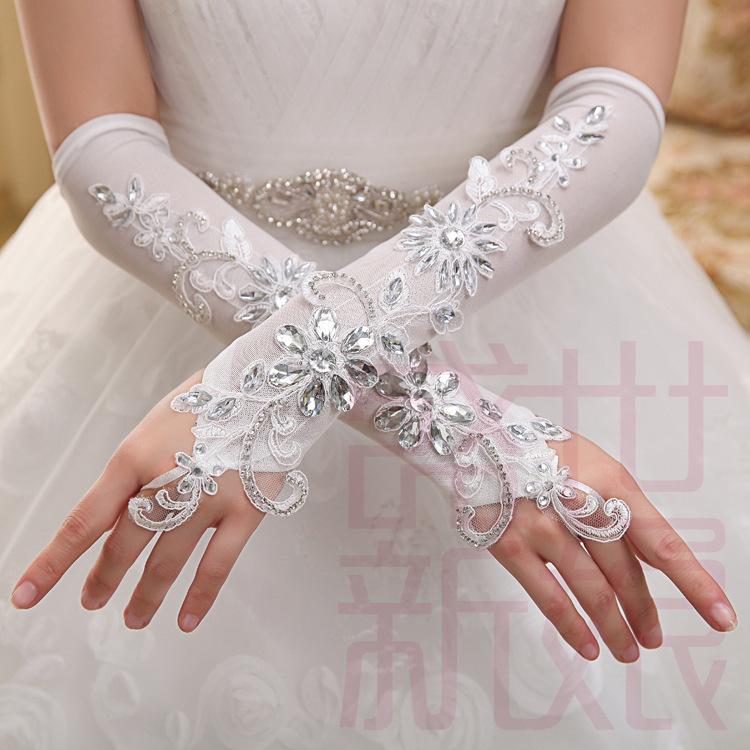 Ladies White Dress Gloves - Fn Dress