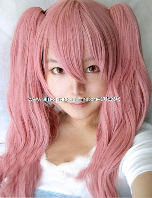 Гаджет  Pink Wave Long Sweat Lolita wig anime halloween christmas Free Shipping None Изготовление под заказ