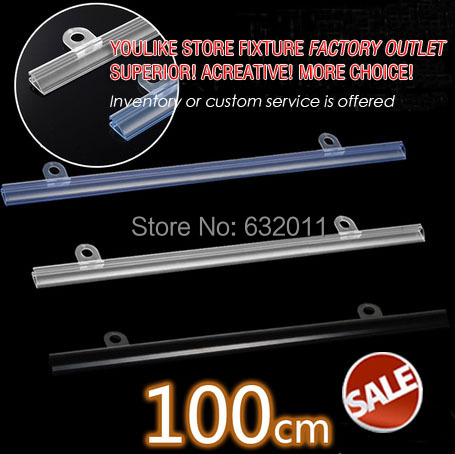 100cm POP supper market plastic poster hanger clip strip advertising poster banner clip system(China (Mainland))