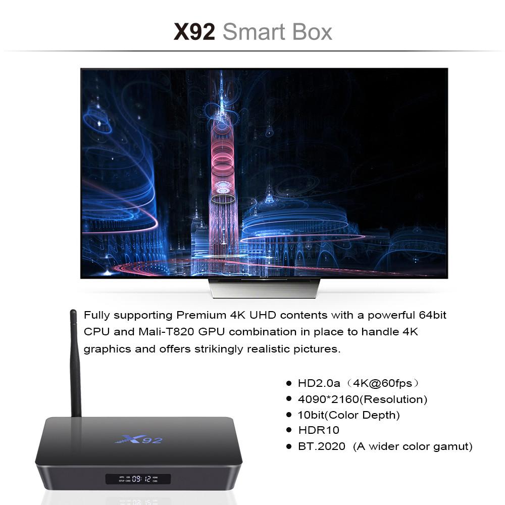 ถูก X92 S912 64บิตOctaแกนทีวีกล่อง2กิกะไบต์+ 16กิกะไบต์Android 6.0กล่องทีวีWifiบลูทูธ3กิกะไบต์/16กิกะไบต์i8คีย์บอร์ดไร้สายเมาส์อากาศ