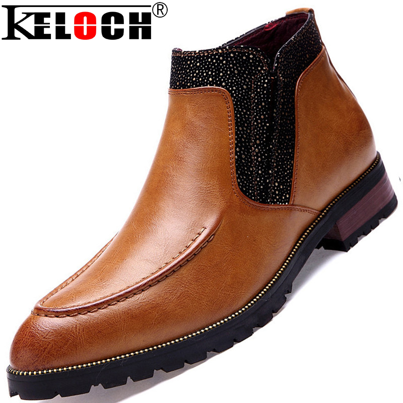 2015 Genuine Leather Boots Men Fashion High Top Business Men Casual Boots Men Ankle Boots British Style<br><br>Aliexpress