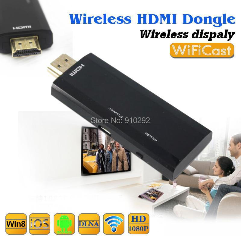 10pcs Smart WiFiCast TV Stick HDMI 1080P DLAN Wifi Airplay TV Dongle Screen Mirror for Play Game Support Android IOS Windows(China (Mainland))