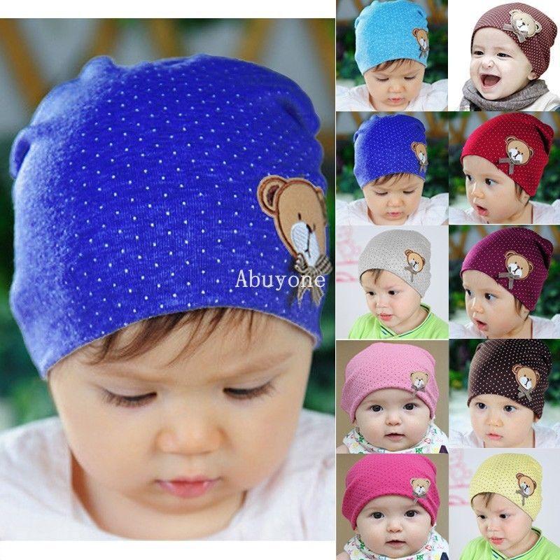 Hot New 2015 Spring Winter Newborn Baby Hat Boys Girls Polka Dot Crochet Bear Cute Kids Caps Cotton photography props Beanie  Z2<br><br>Aliexpress
