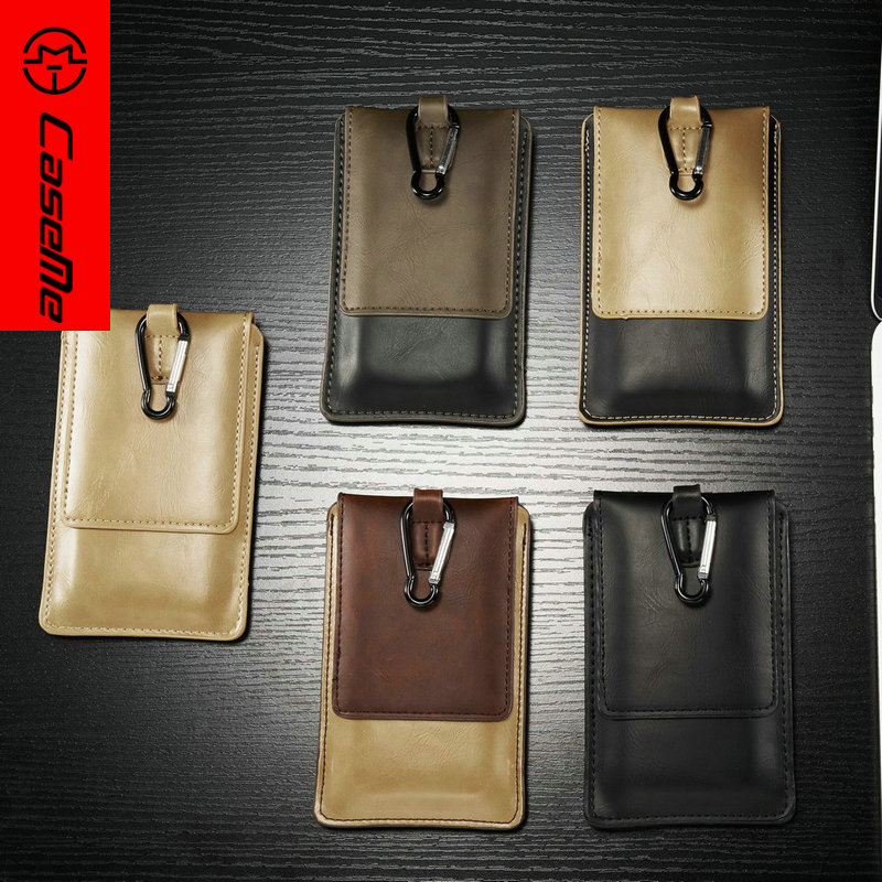 CaseMe Universal Outdoor Phone Bag Vintage PU Leather for iPhone 6 6S 6S Plus for Samsung Galaxy S6 S6Edge Wholesale 50pcs/lot