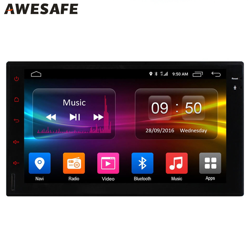 AWESAFE 2 din Car Radio 1024*600 Android 6.0 GPS with Navigator Car DVD Player Support 4G LTE SIM Network 2G RAM Universal 16GB(China (Mainland))