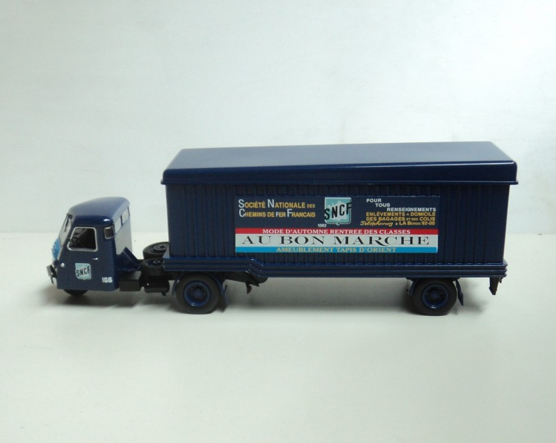 1:43 FAR ixo three wheeled trailer truck model of the French railway company(China (Mainland))