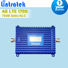 LCD Display 4G LTE 1700 FDD Band 4 Mobile Signal Booster 70dB Gain ALC Control GSM AWS 3G 1700mhz Cell Phone Repeater Amplifier - Solution Provider store