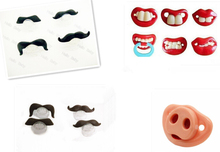Funny Baby Pacifiers Mustache Teat Chupeta Novelty Toddler Pacy Orthodontic Nipples Teether Baby Care Products 1PC FREE SHIPPING(China (Mainland))