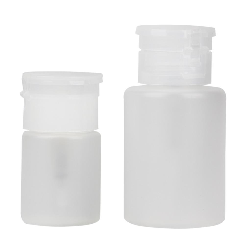 2 Pieces/Set Pump Dispenser Nail Art Polish Remover Cleaner Acetone Bottles Liquid Gel Nail Polish Remover Bottle