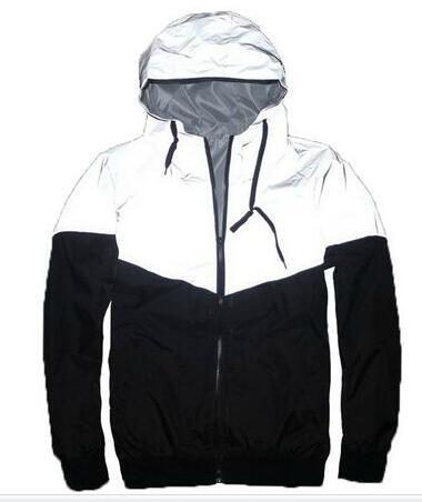 NEW fashion Men Jacket Autumn Patchwork Reflective 3m Jacket Sport Hip Hop Outdoor Waterproof Windbreaker Men Coat Trend