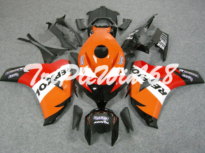 Injection Fairing Fit CBR1000RR 2008 2009 2010 2011 CBR 1000RR 08 09 10 11 Repsol Orange Red Black LH1805(China (Mainland))