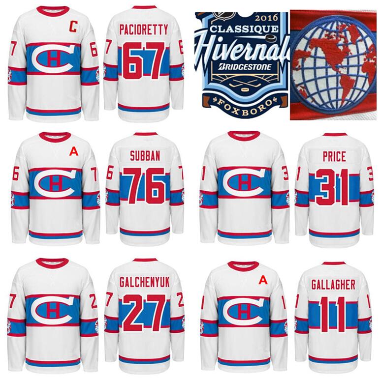2016 Montreal Canadiens Winter Jersey 67 Max Pacioretty 31 Carey Price 76 P K Subban Alex Galchenyuk 11 Brendan Gallagher Jersey(China (Mainland))