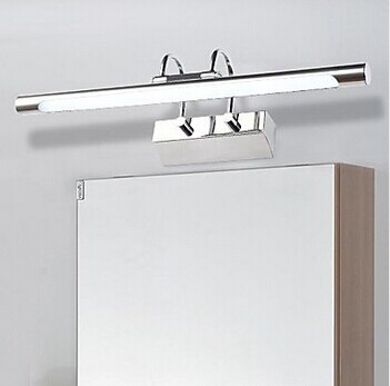 Фотография Modern Simple LED Mirror Light, Artistic Stainless Steel Plating Bathroom lighting,For Bathroom Dressing-room,Bulb Included