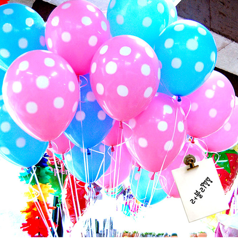10pcs/lot Dot Latex Balloons Wedding Party Decorations Baby Shower Birthday Party Suppliers Globos Party Air Balls(China (Mainland))