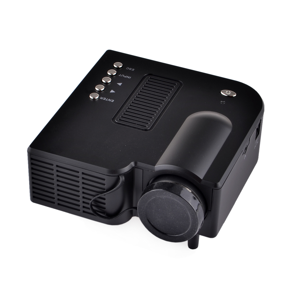 Portable led tv projector video data show 3d full hd 1080p for Portable video projector