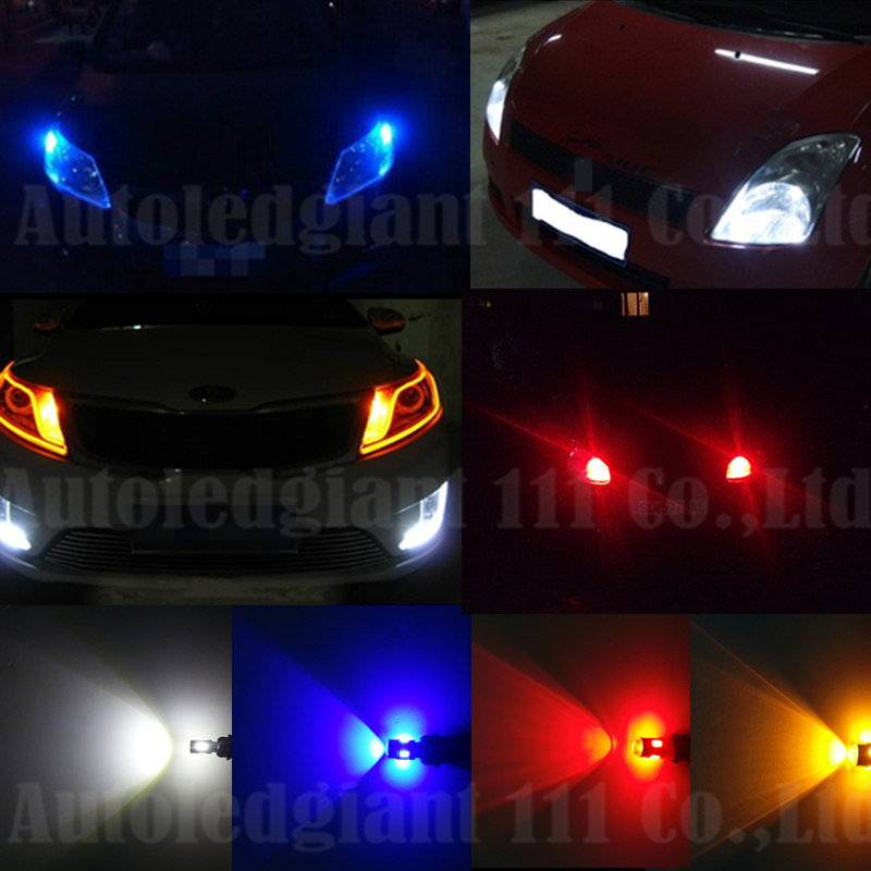 2x High Power Super Bright White Led Car Light Source 168 194 2825 W5W T10 LED