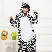 Lovely zebra Cartoon Design Animal Cosplay Pajamas Kids Boys Girls Flannel Sleepers Female Male Pijamas pyjamas