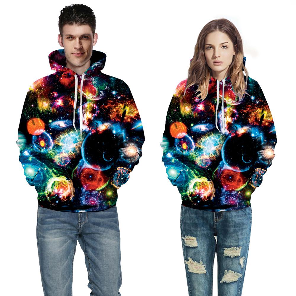 X&Classic-good quality autumn winter Space Universe galaxy 3D hoodies print tiger leopard men women couple hooded sweatshirts(China (Mainland))