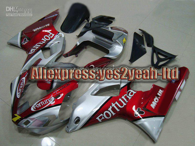 Fairing for 2000 2001 YAMAHA YZF R1 YZF-R1 2000-2001 YZF1000 YZFR1 00 01 Fortuna Red silver kits