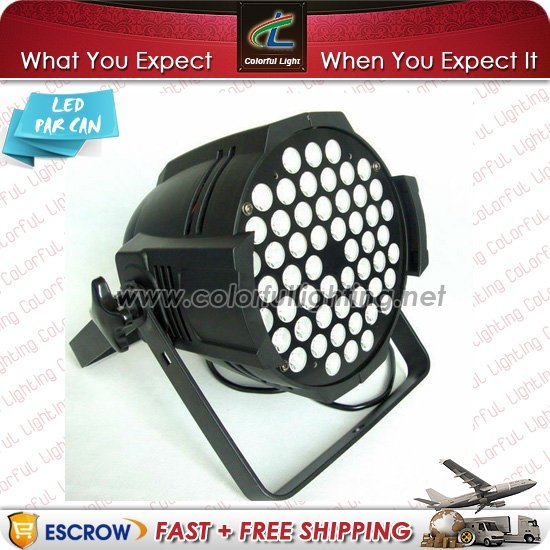 Free Shipping Low Price (4 pieces/Lot) 54 x 3W Cold White Edison LED Par Light